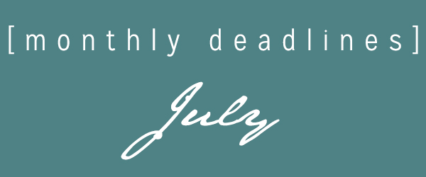 Monthly deadlines July2019