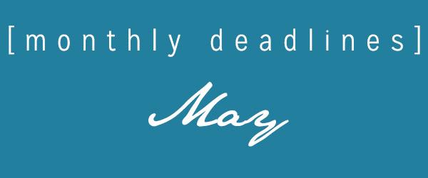 Masters List May Deadlines
